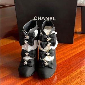 Chanel open toe heels
